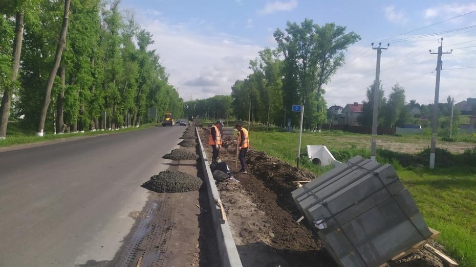 В Новоусманском районе построят тротуары вдоль дорог регионального значения