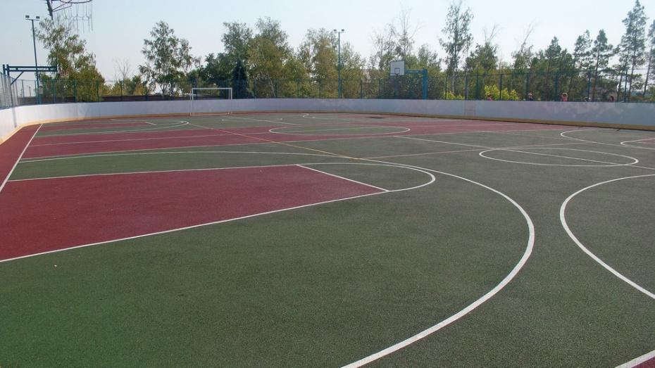 В лискинском селе Ковалево сделали многофункциональную спортплощадку