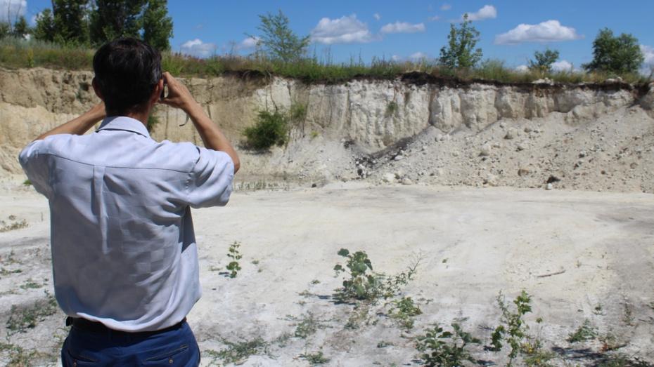 В Ольховатском районе обнаружили 2 площадки незаконной добычи песка и мела