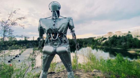 Под Воронежем активисты установили скульптуру «Стальной гигант»