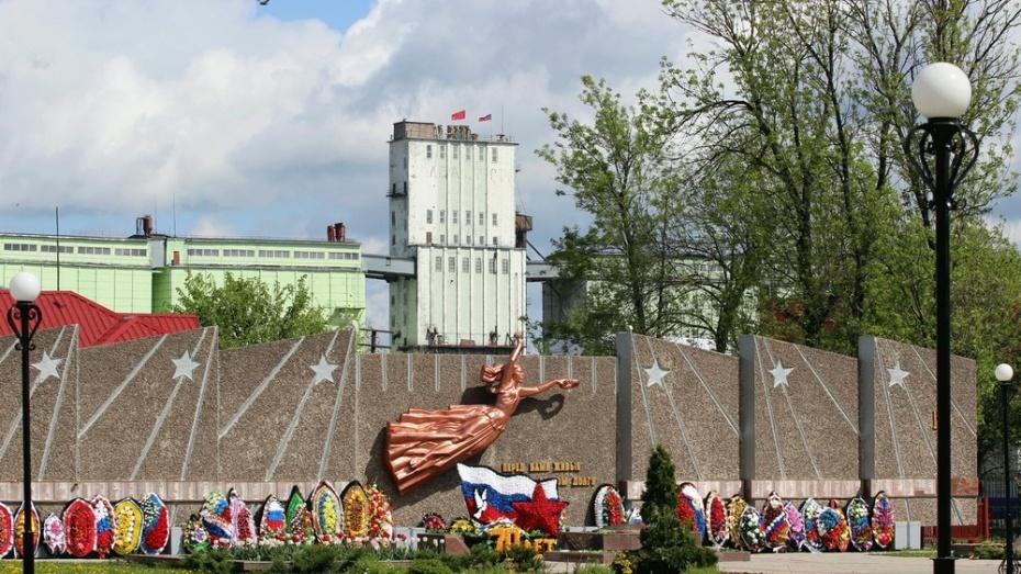 На самом высоком здании Таловой подняли флаг Победы