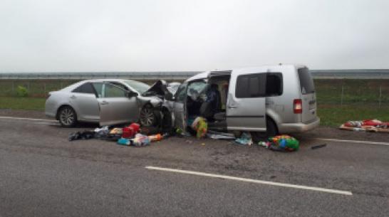В Воронежской области один человек погиб и 8 пострадали в ДТП с двумя иномарками