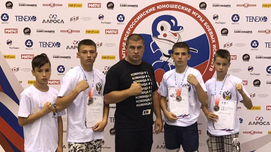 Новоусманские кикбоксеры завоевали 2 «серебра» на Всероссийских играх боевых искусств