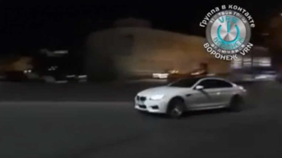 Погоня полиции за дрифтером в Воронеже попала на видео