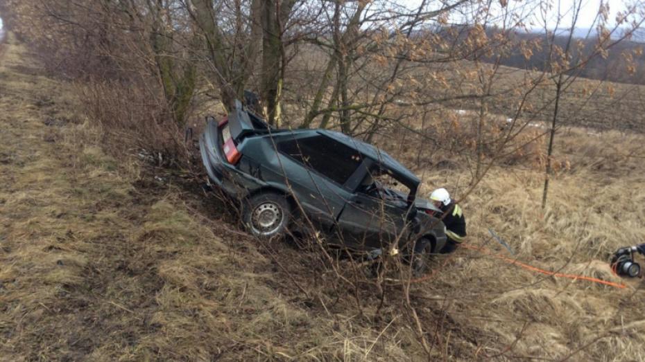 В Воронежской области водитель легковушки вылетел в кювет и погиб